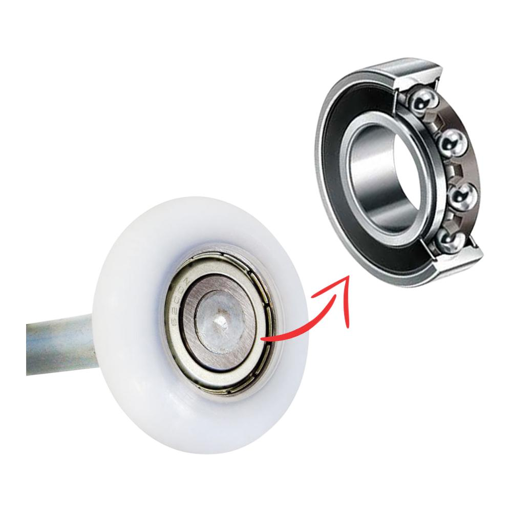Garage door roller bearings