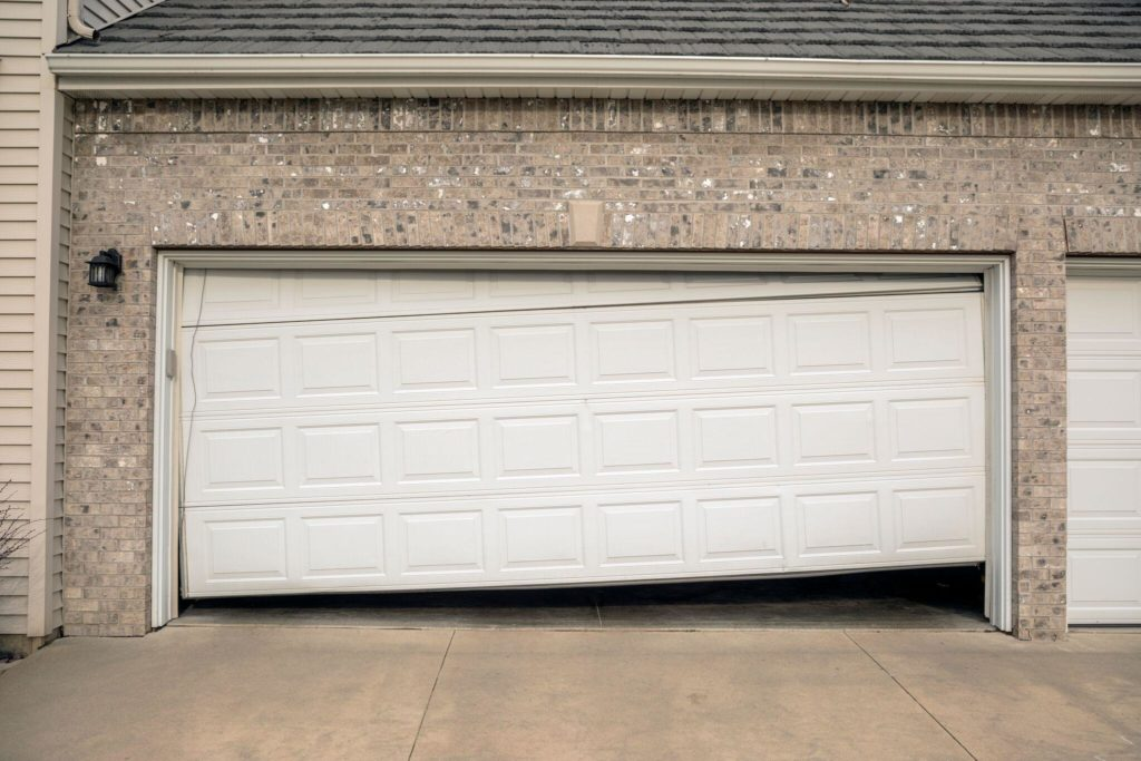 sagging garage door
