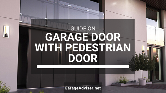 garage door with man door
