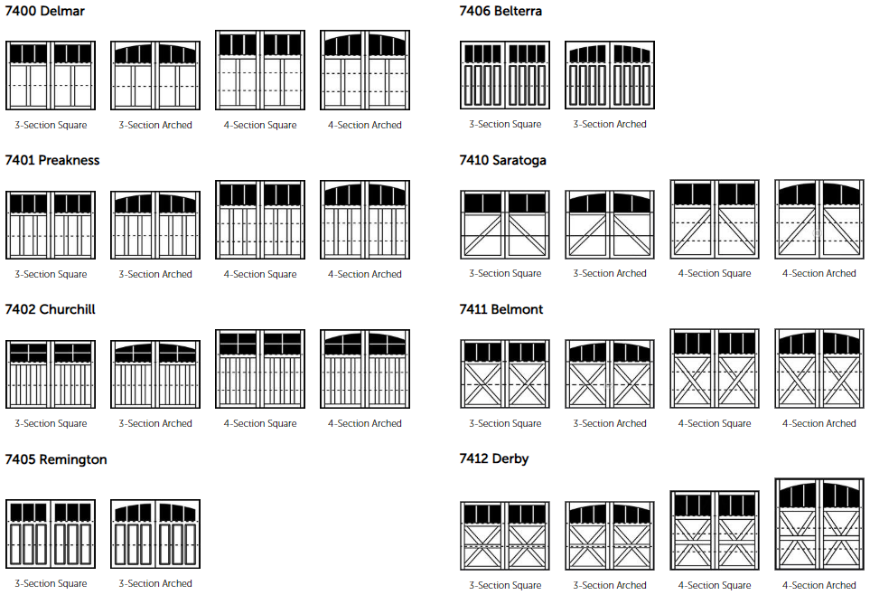Wayne Dalton 7400 Panel Design Options