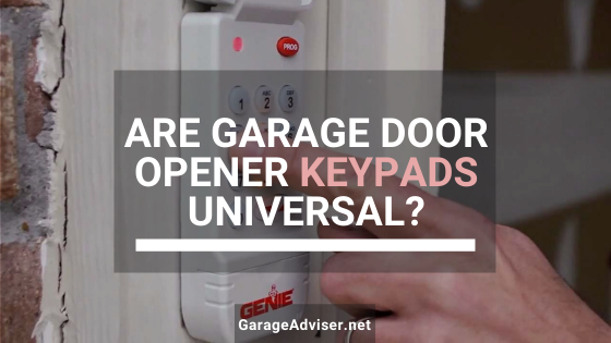 are garage door opener keypads universal