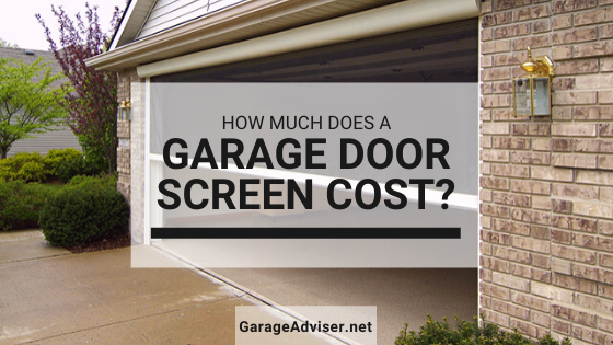 garage door screen cost