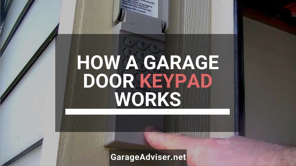 how does a garage door keypad work